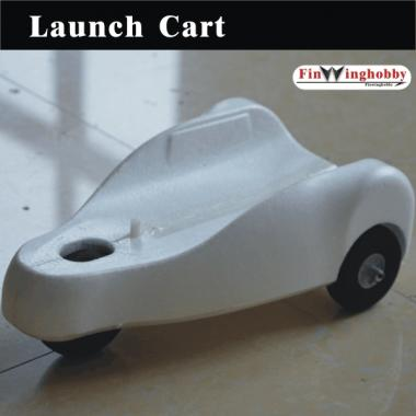 Separable Launching Cart for airplane roll take-off