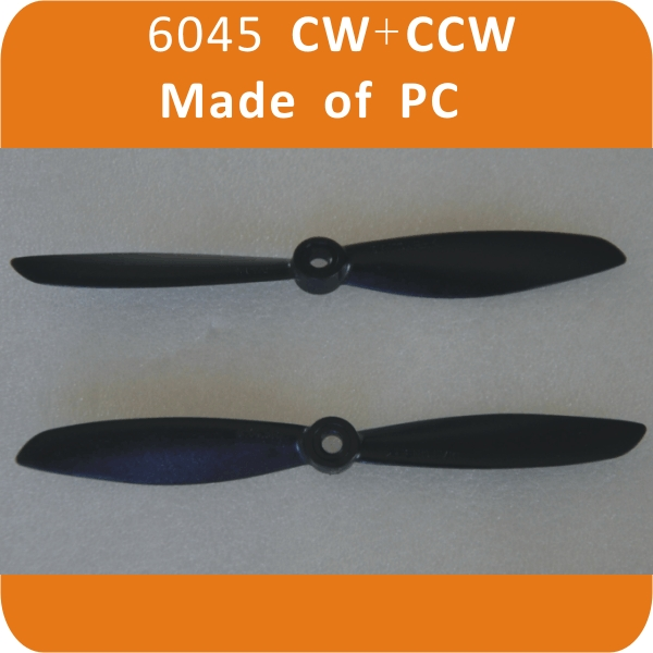 6045 CW+CCW PC Black Propellers