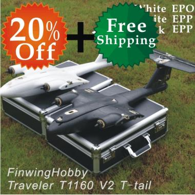 FPV Traveler T1160 V2 Deluxe Travelling Package(ARF  including suitcase)