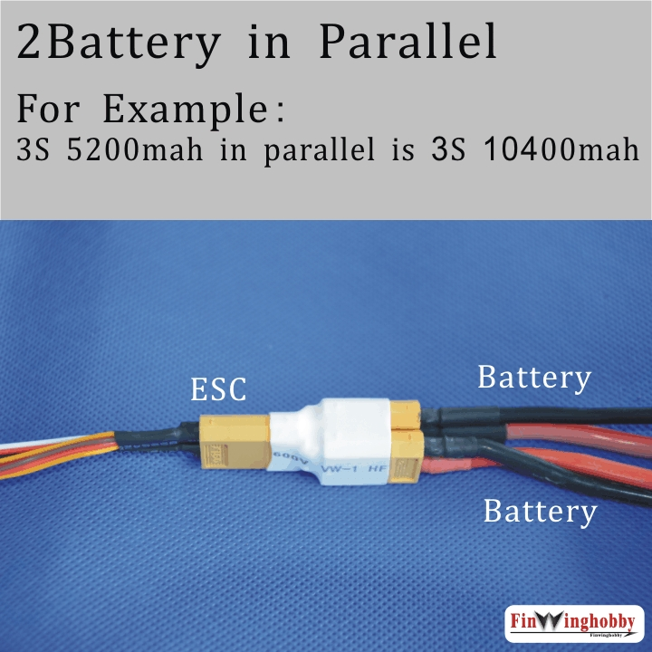 XT60 Parallel Adapter-Two batter in Parallel