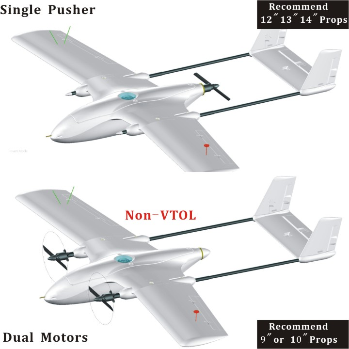 VTBIRD 1.6M Kits Fix-Wing Version(Non-VTOL)