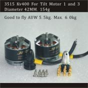 Brushless Motor 3515 KV 400 For VTBIRD Tilt Motor 1 and 3